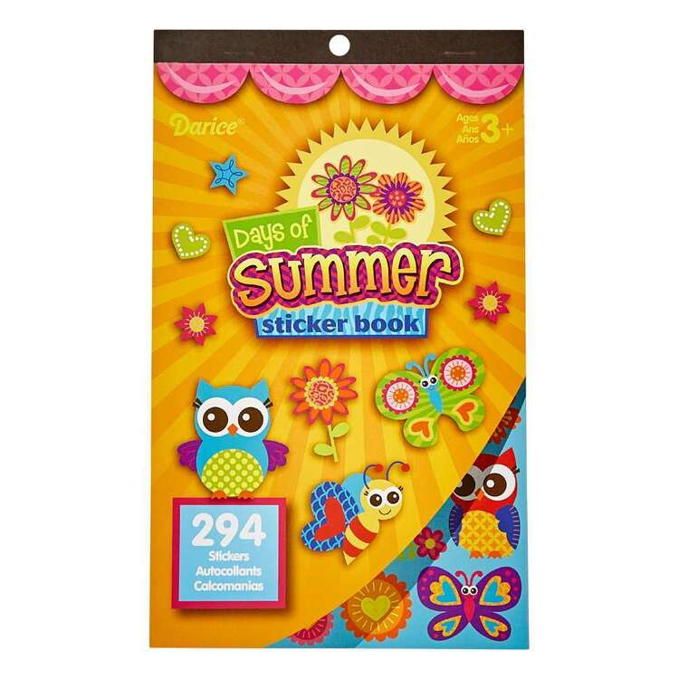 Darice Days Of Summer Sticker Book