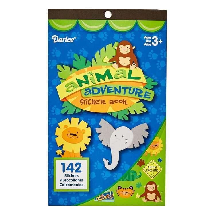 Darice Animal Adventure Sticker Book
