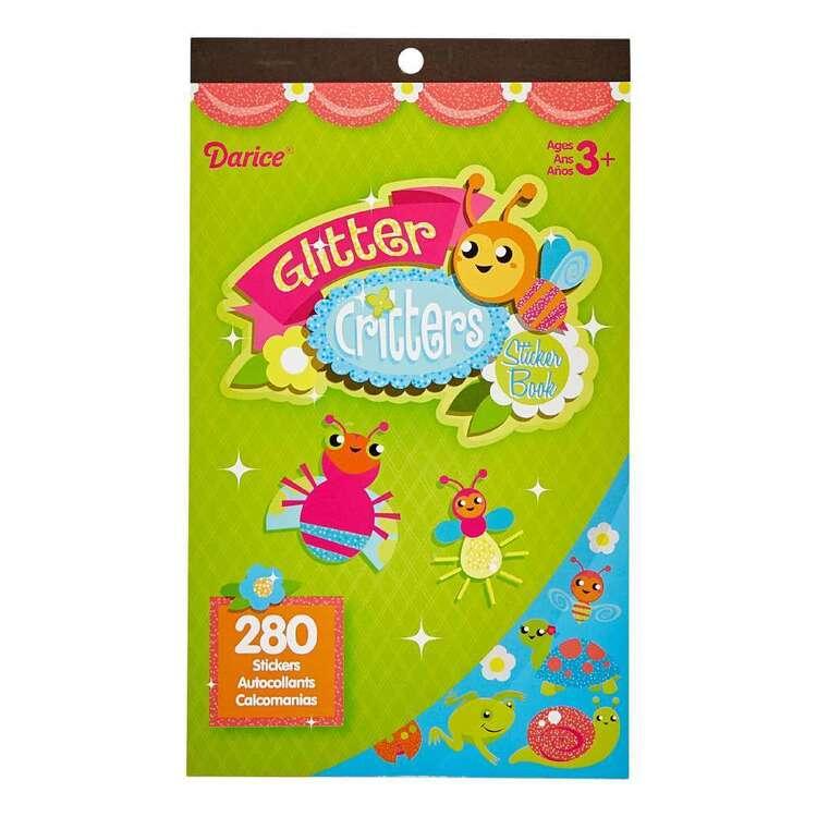 Darice Glitter Critters Sticker Book