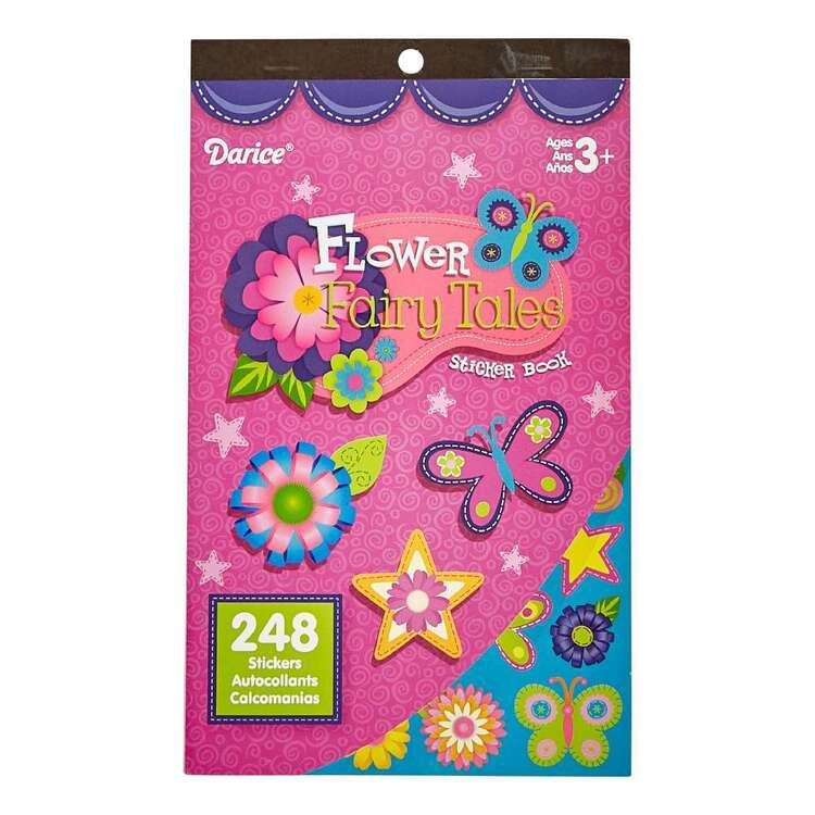 Darice Flower Fairy Tales Sticker Book Multicoloured