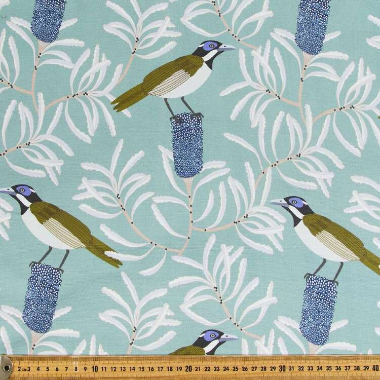 Jocelyn Proust Blue Honeyeater Printed Cotton Canvas