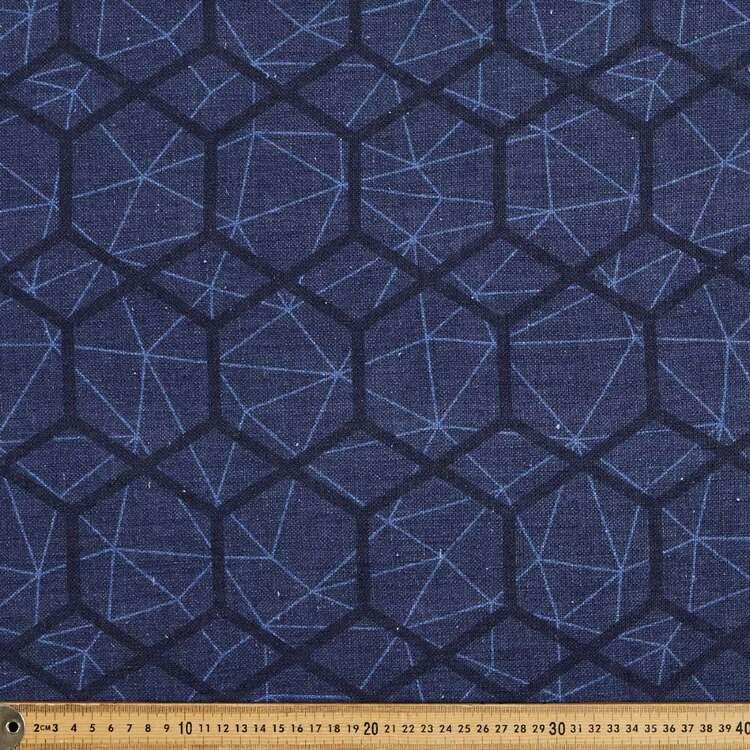 Hexagon 150 cm Classic Cotton Linen Fabric