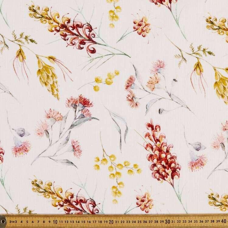 Native Grevillea 150 cm Cotton Slub Fabric