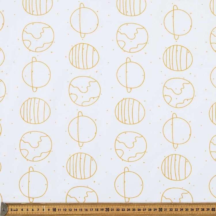 Planets 120 cm Multipurpose Cotton Fabric