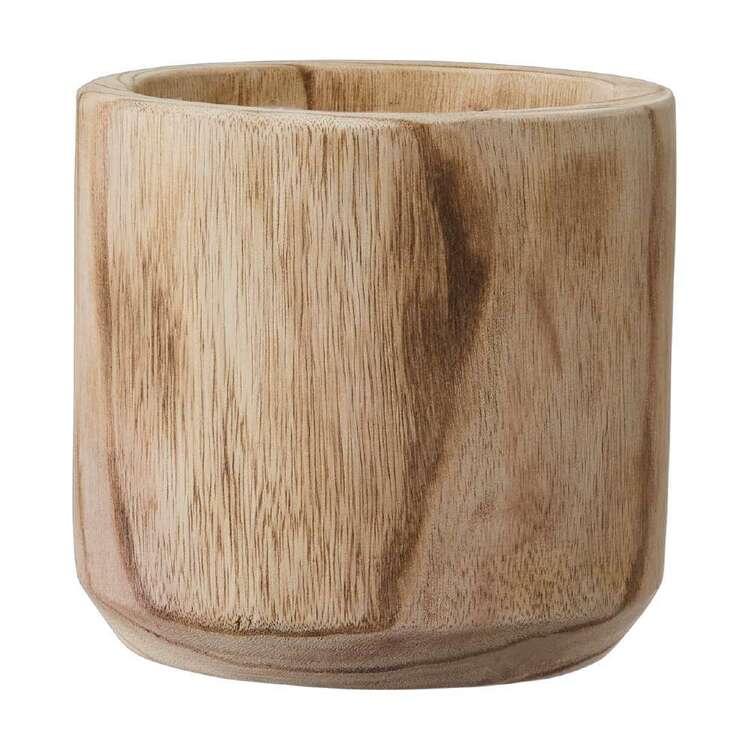 Living Space 15.5 cm Wood Planter Pot