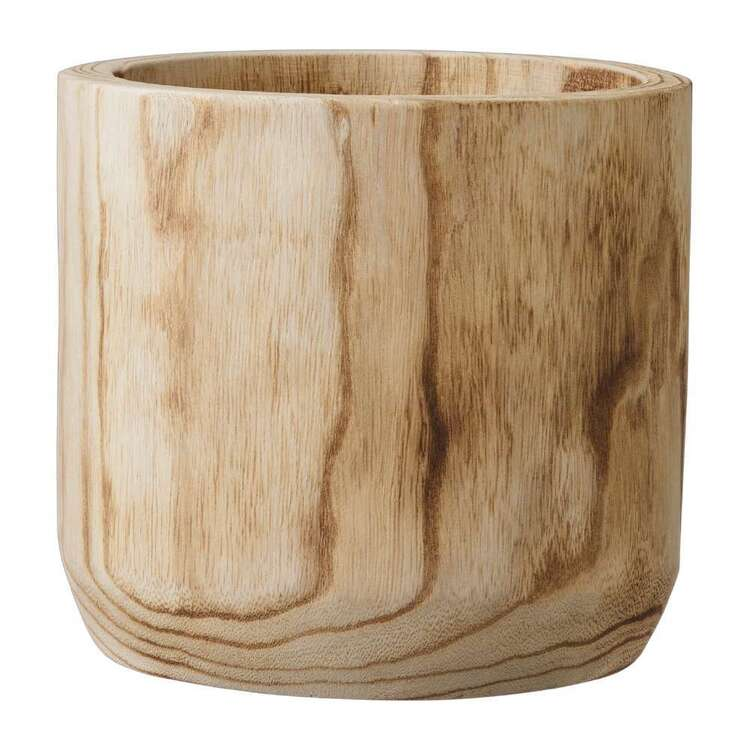 Living Space 20 cm Wood Planter Pot