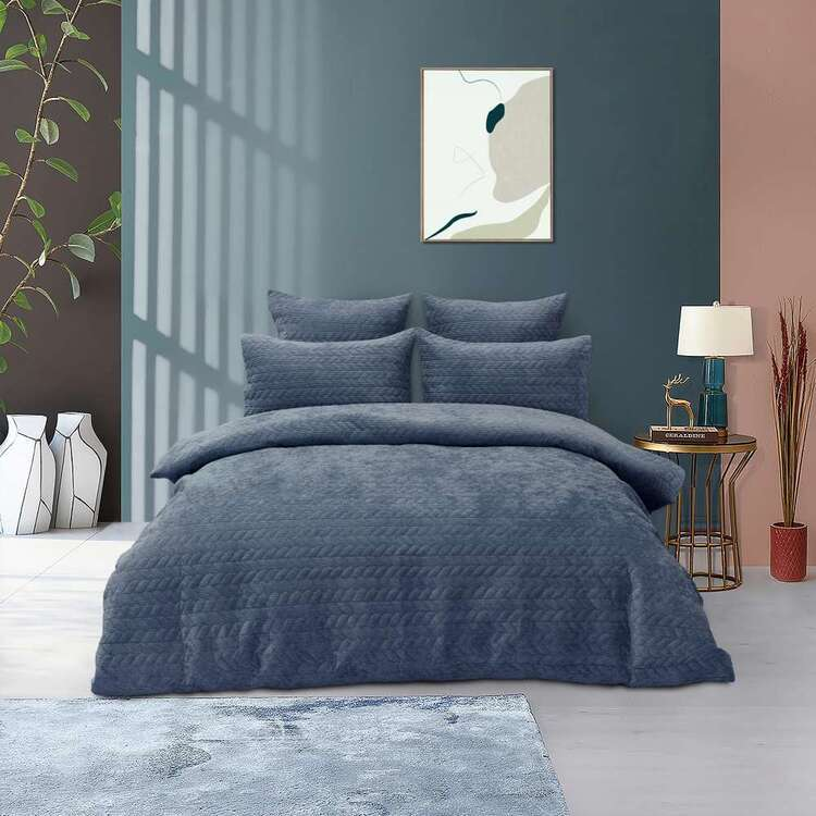 KOO Harriet Cord Quilted Quilt Cover Set