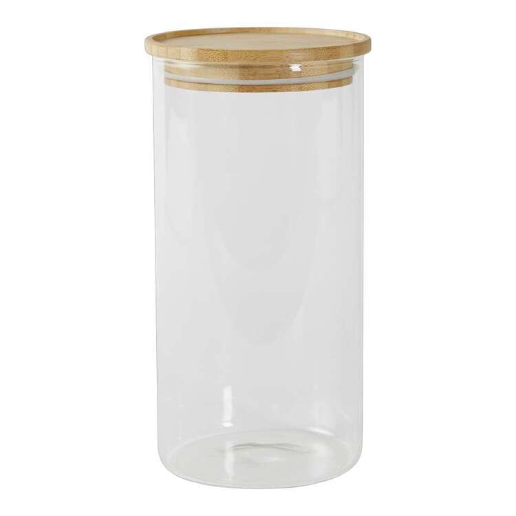 Culinary Co 1.5L Glass Canister With Bamboo Lid