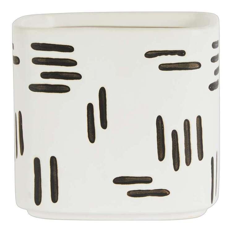Living Space Cocoon Comfort 14.5 x 13 cm Square Planter Pot