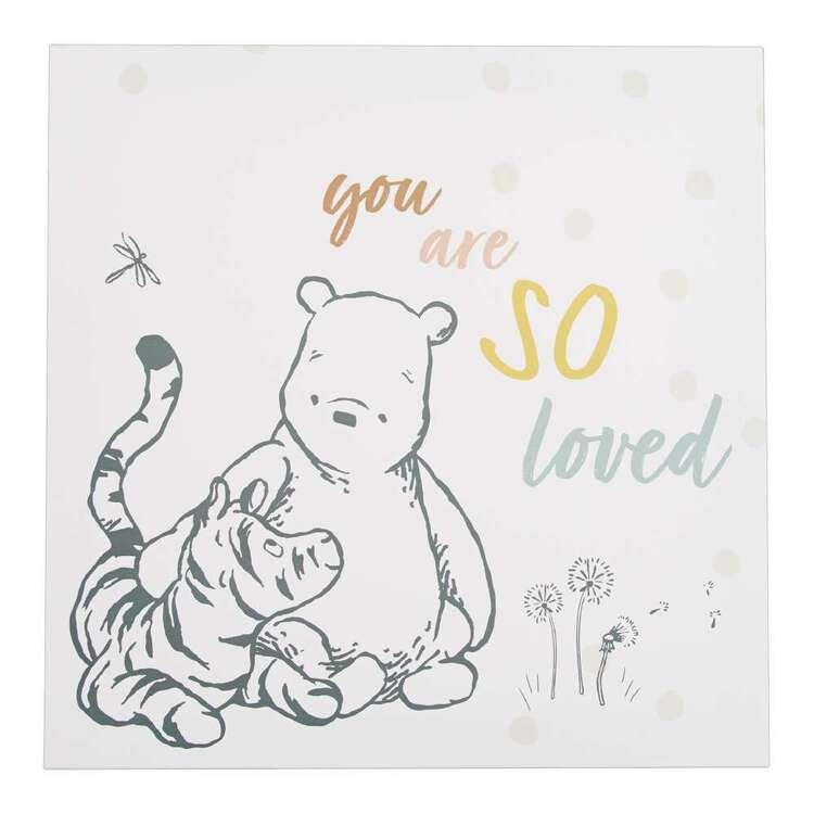 Tag Winne The Pooh Loved Canvas Print