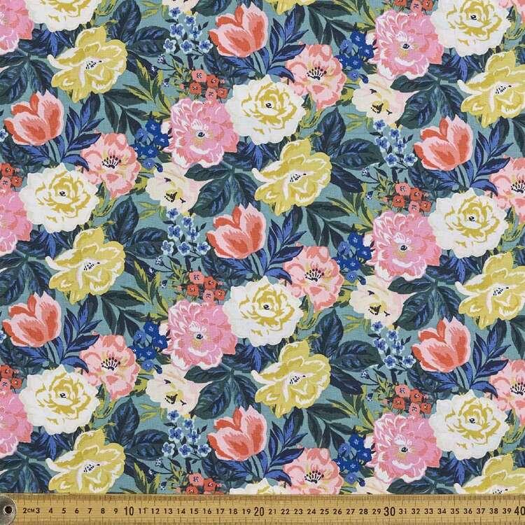 Cloud 9 Perennial Bouquet Cotton Fabric
