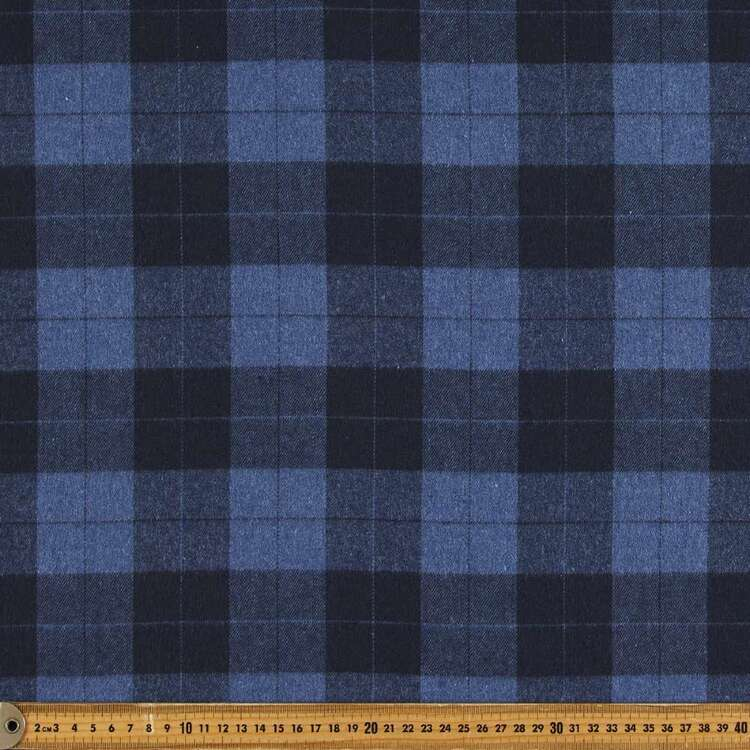 Check #7 Printed Flannelette Fabric