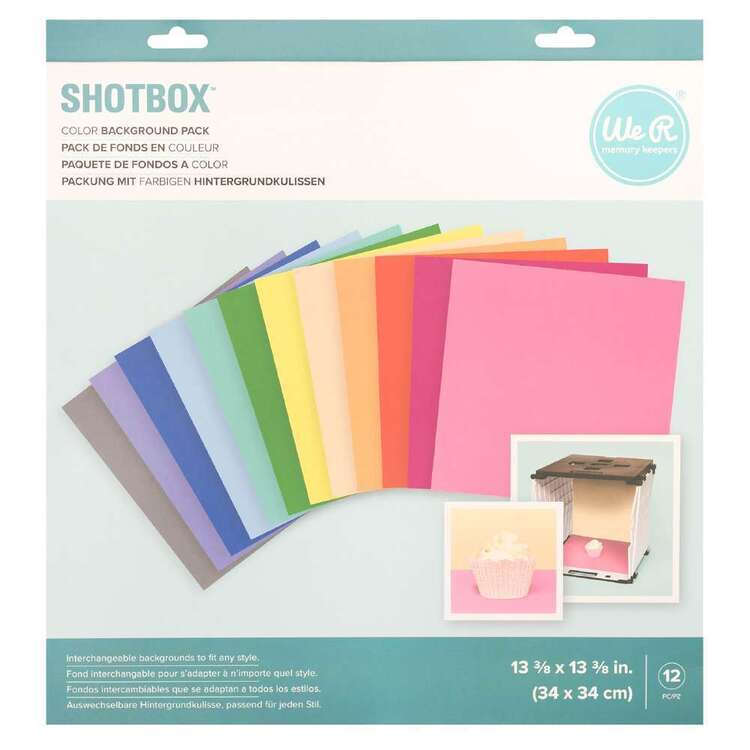 We R Memory Keepers 12 Pack Shotbox Background Set