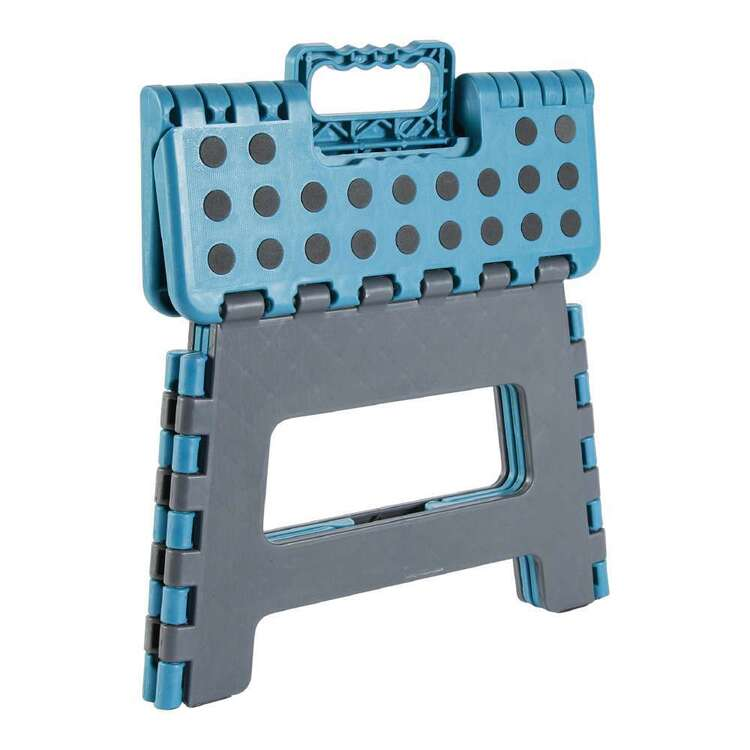 Folding Blue and Grey Stool Blue & Grey 8.9 mm