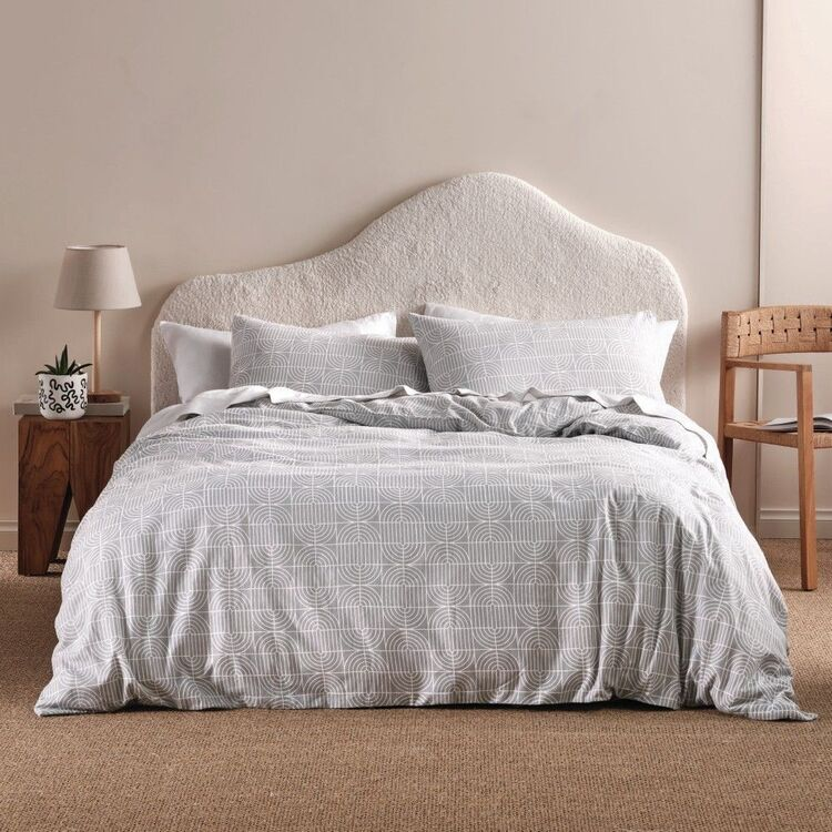 Linen House Flannelette Culver Quilt Cover Set