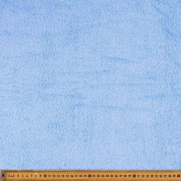 Plain 112 cm Cotton Terry Towelling Fabric