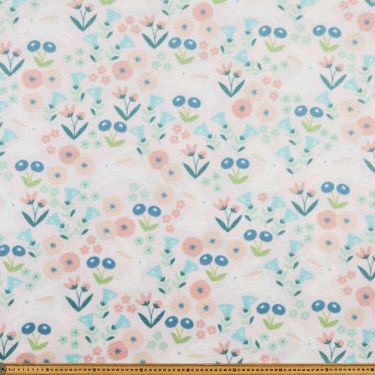 Bunny Printed 148 cm Micro Polar Fleece Fabric