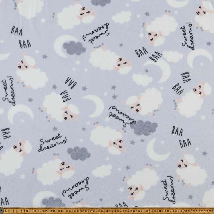 Little Llamas Printed 148 cm Micro Polar Fleece Fabric