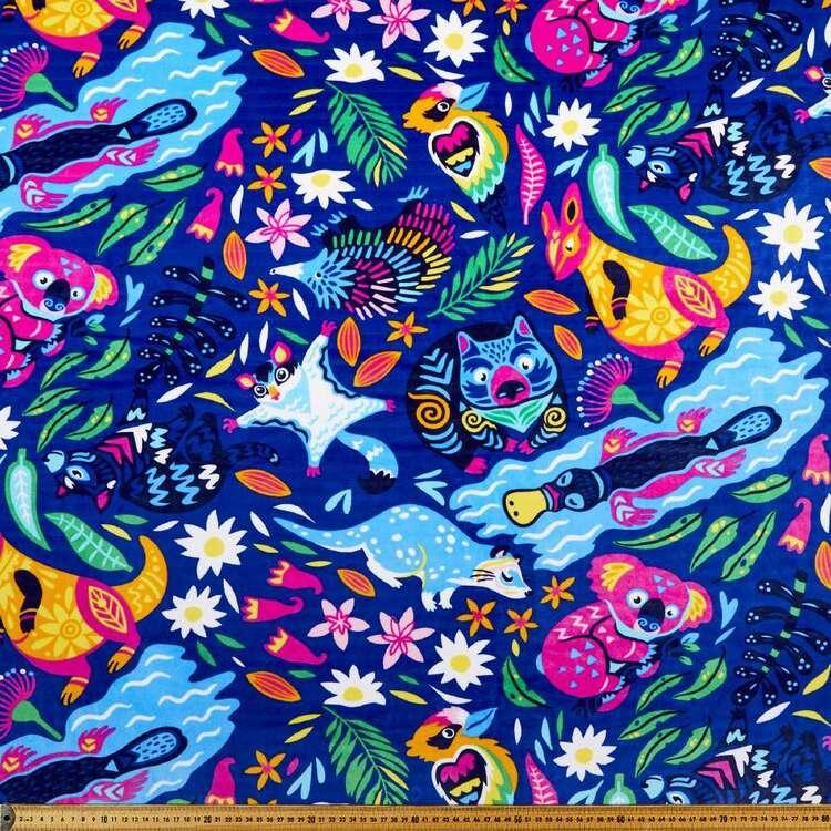 Aus Printed 148 cm Deluxe Velour Fleece Fabric