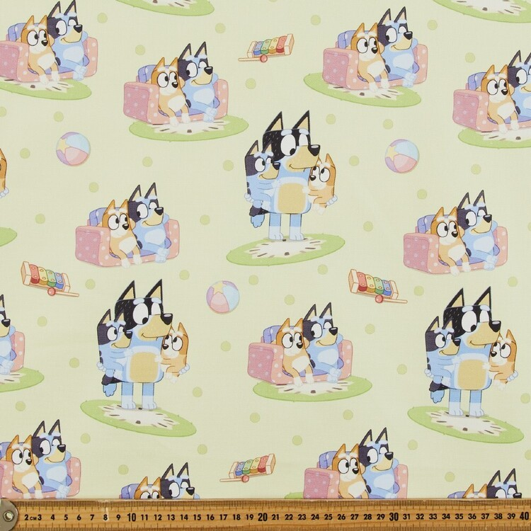 Bluey In The Playroom Printed Cotton Fabric