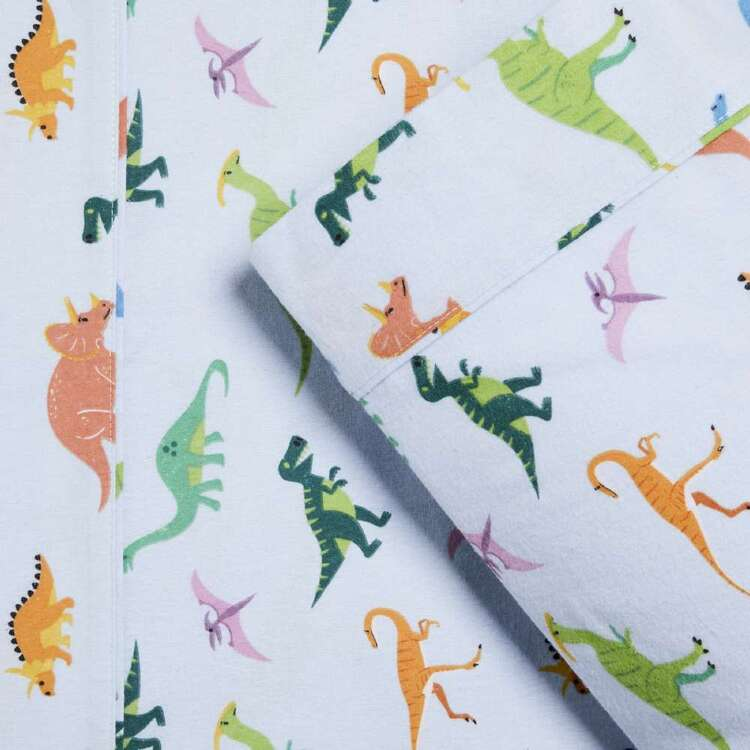 Kids House Flannelette Dinosaur Sheet Set