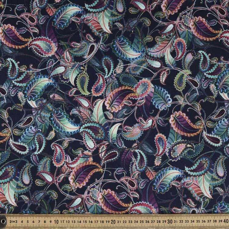 Studio E Blooming Paisley All Over Cotton Fabric