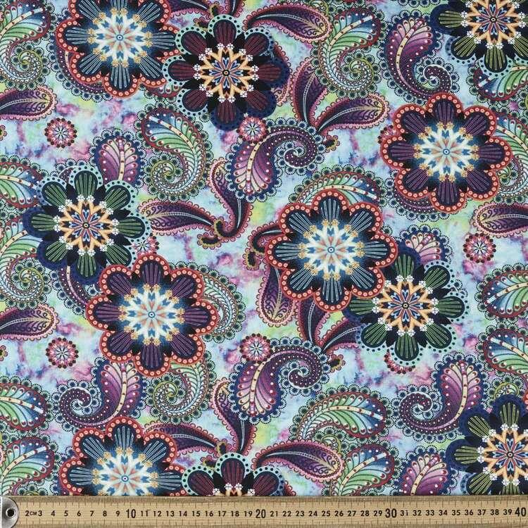 Studio E Blooming Paisley Large Medallion Cotton Fabric
