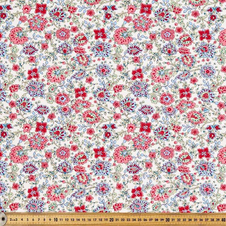 Floral Bouquet Batik Cotton Fabric