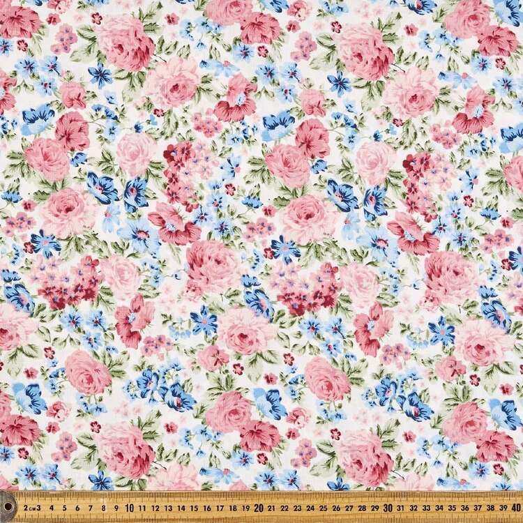 Floral Bouquet Rose Cotton Fabric