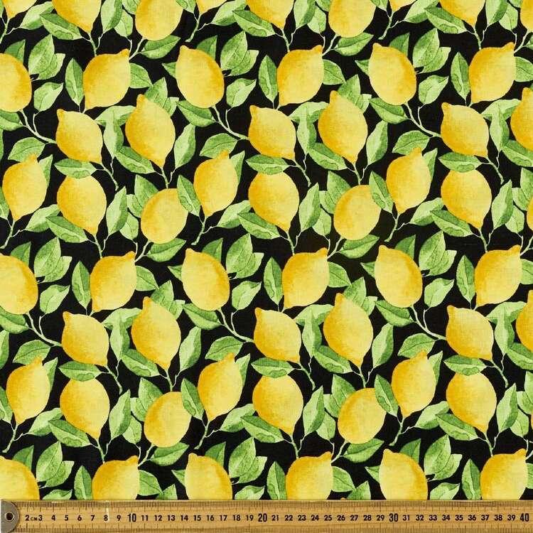Zestier Lemons All Over Printed 112 cm Cotton Fabric