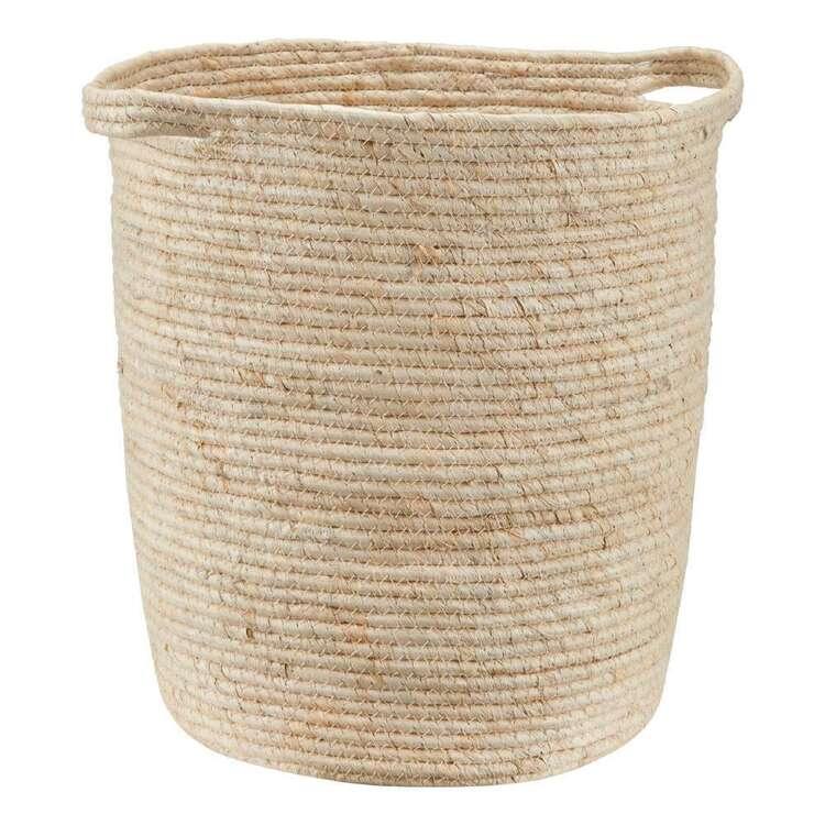 Bouclair Contemporary Organic 35 x 40 cm Round Basket