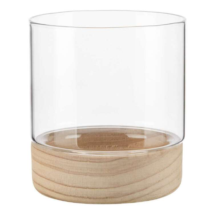 Bouclair Contemporary Organic Glass Candle Holder