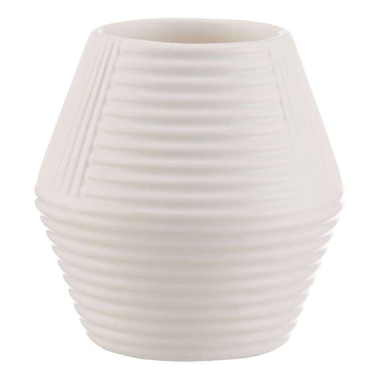 Bouclair Contemporary Organic Textured Ceramic Candle Holder