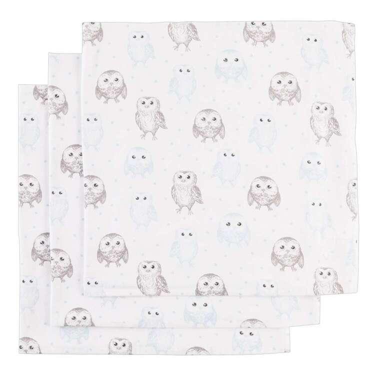 KOO Baby Flannelette Owl Wraps 3 Pack