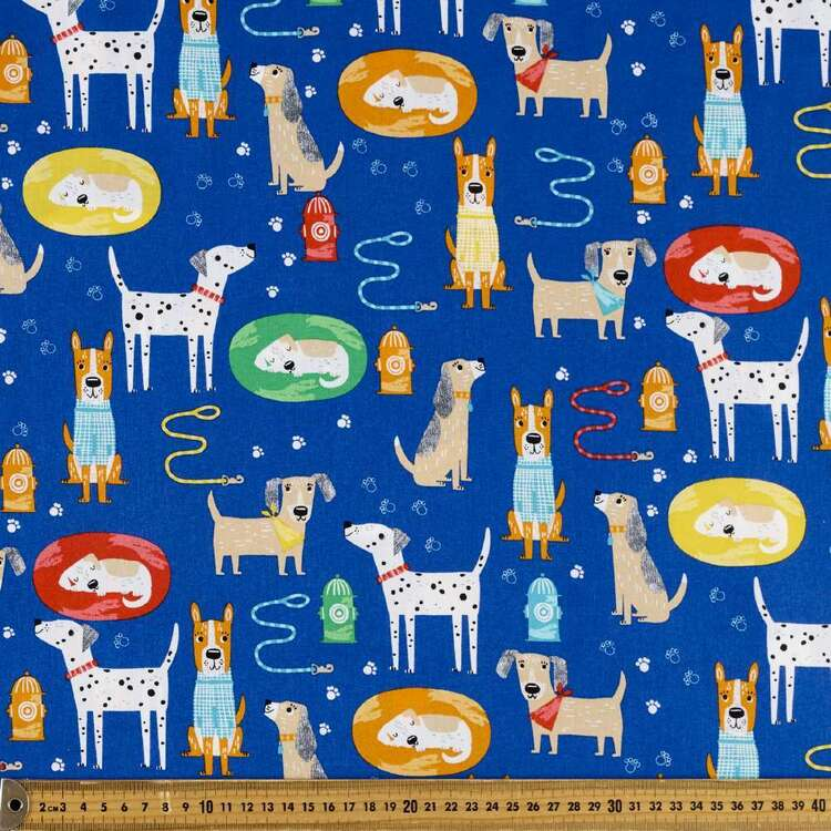 Dog Days All Dogs Cotton Fabric