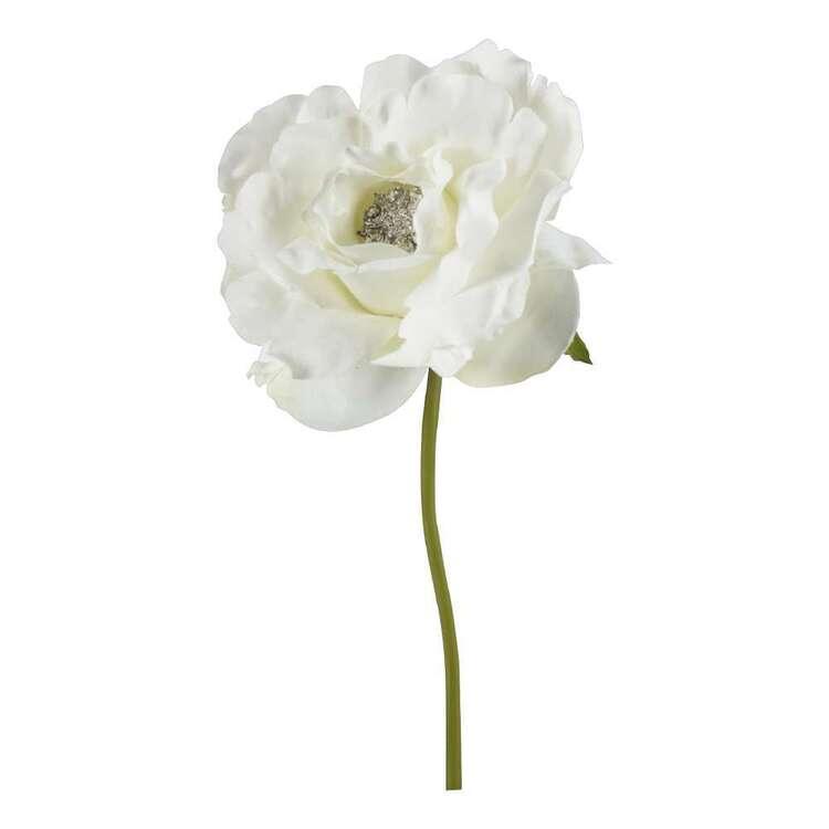 Pick Rose With Gem Centre