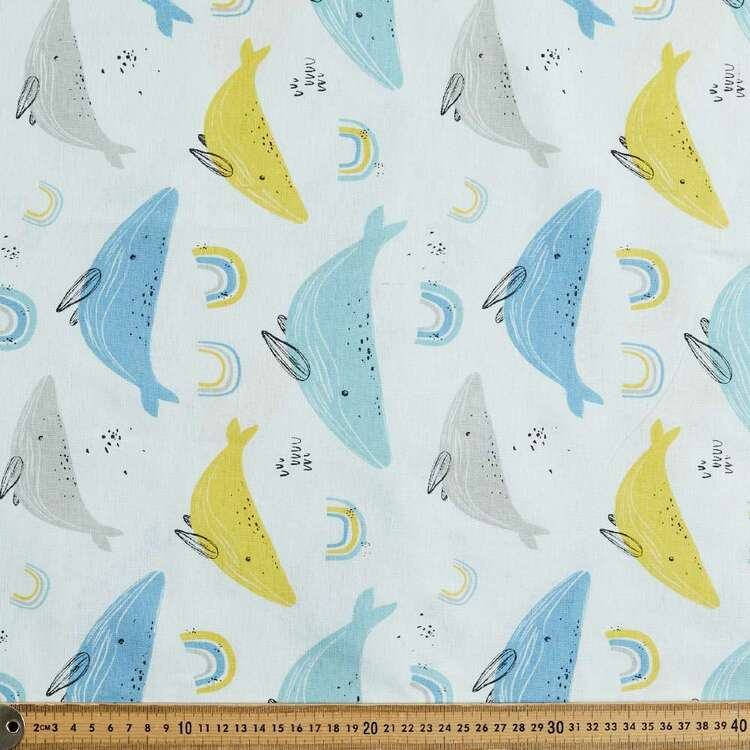 Whale Song 120 cm Multipurpose Cotton Fabric
