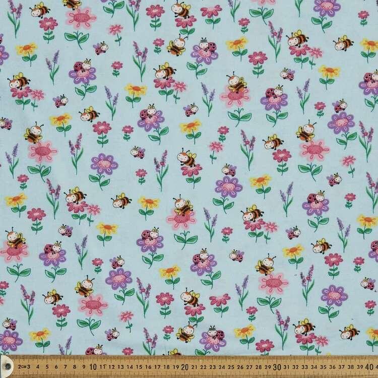 Landing Pad Printed 112 cm Flannelette Fabric
