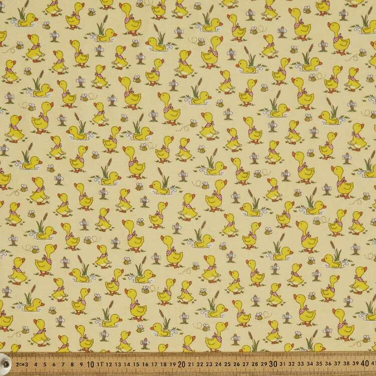Puddle Pals Printed 112 cm Flannelette Fabric
