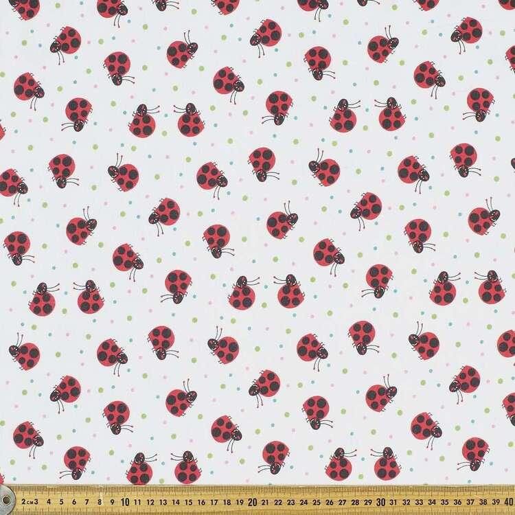 Cheeky Ladybug Printed 112 cm Flannelette Fabric