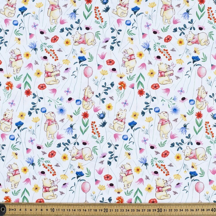 Disney Winnie The Pooh Dream Among The Flowers Cotton Fabric
