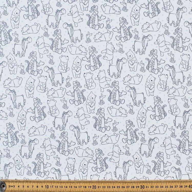 Disney Winnie The Pooh & Friends Sketch Cotton Fabric