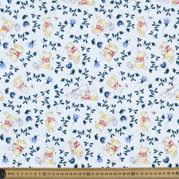 Disney Winnie The Pooh Friends Dream Among The Flowers Cotton Fabric