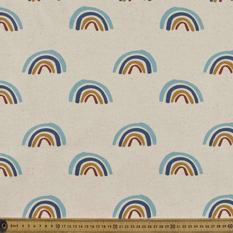 Rainbows Printed 123 cm Buzoku Cotton Duck Fabric