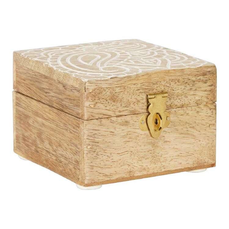 Ombre Home Wild Flower Mango Wood Box