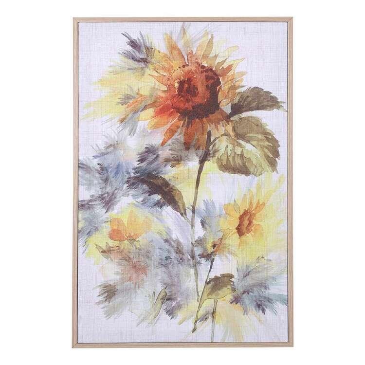 Ombre Home Wild Flower Sun Flower Wall Art