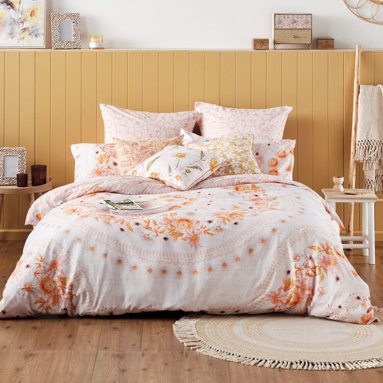 Ombre Home Wild Flower Daisy Quilt Cover Set