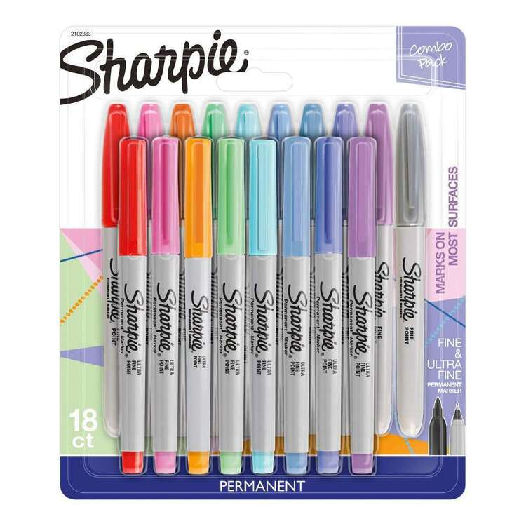 Sharpie 18 Pack Permanent Markers Combo Pack