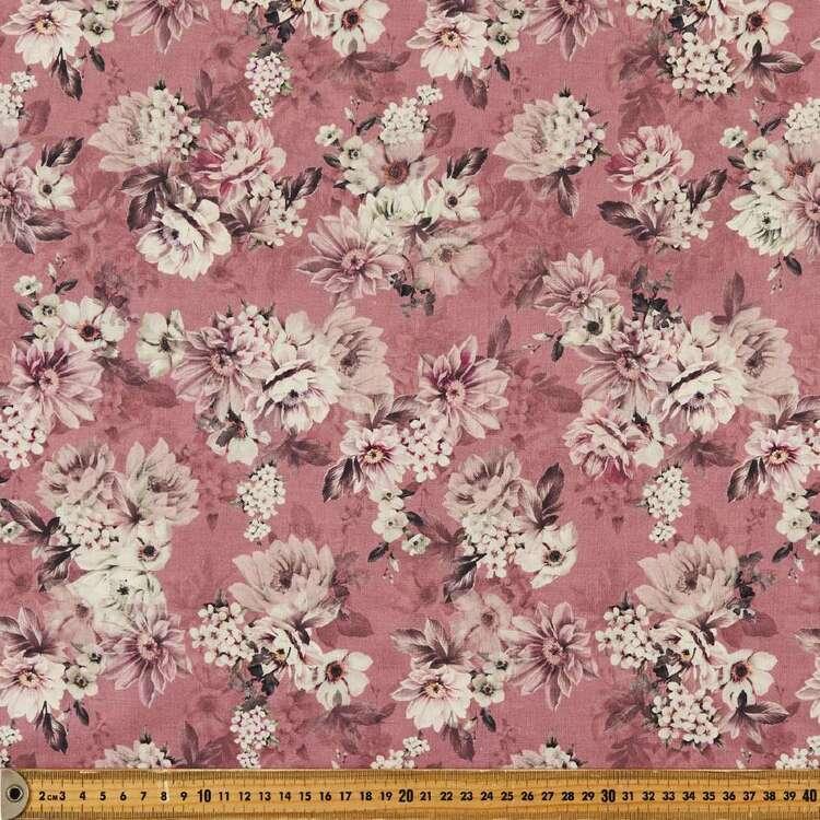 Vintage Vibe Digital Printed 146 cm Cotton Linen Fabric
