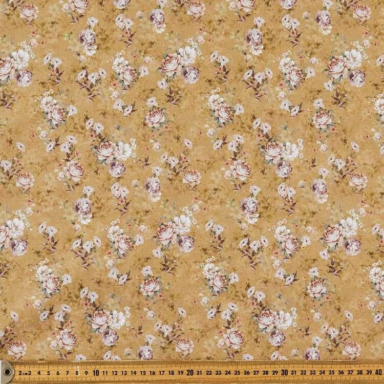 Just Rosey Digital Printed 146 cm Cotton Linen Fabric